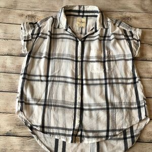 AE Outfitters Plaid Button Down Shirt Size S